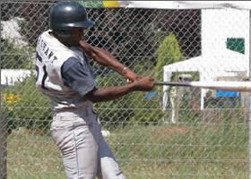 Manny Marchant was a perfect 4-for-4 with a homer, a double and two singles while also collecting seven RBI